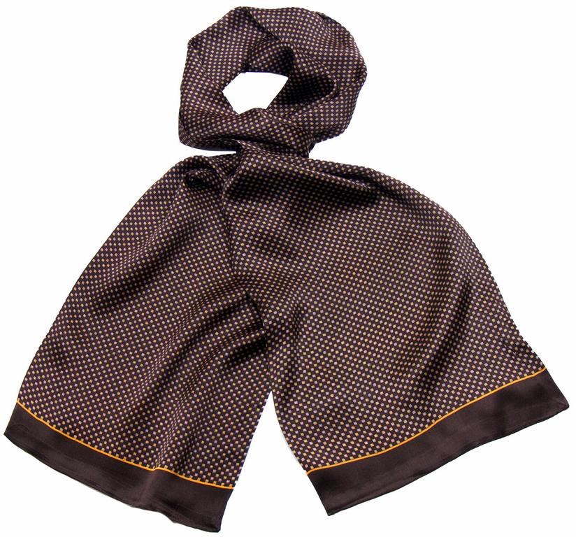 Foulard soie homme chocolat Théo - Hommes Foulard homme - Mes ... 704c947c287