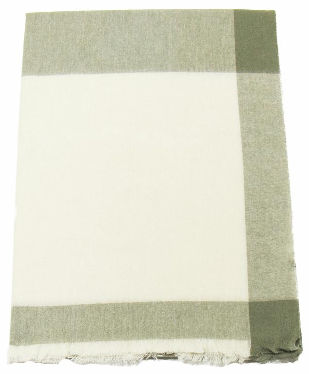 Etole cachemire laine vert carreaux 3