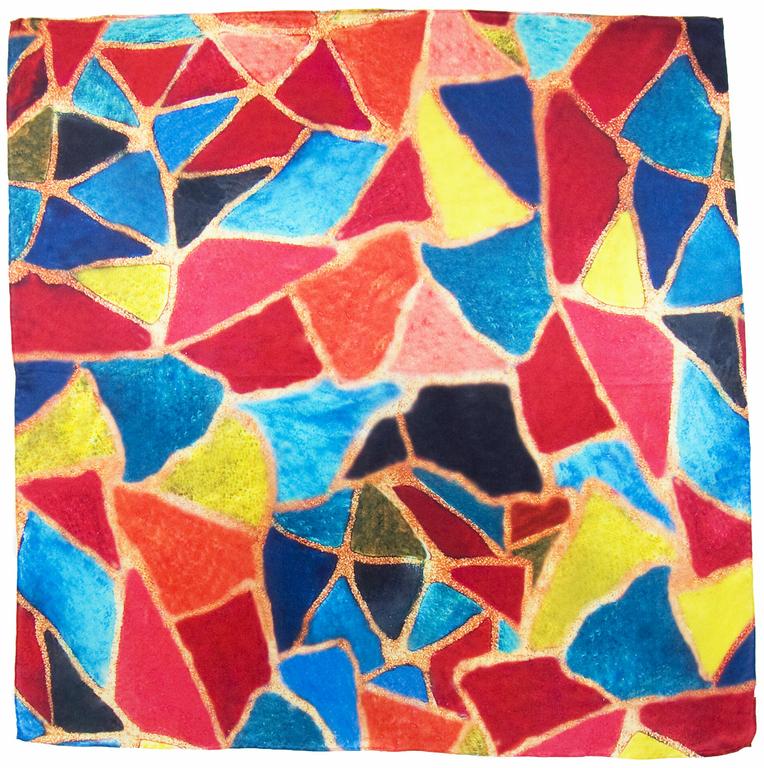 carré soie rouge nuria  1