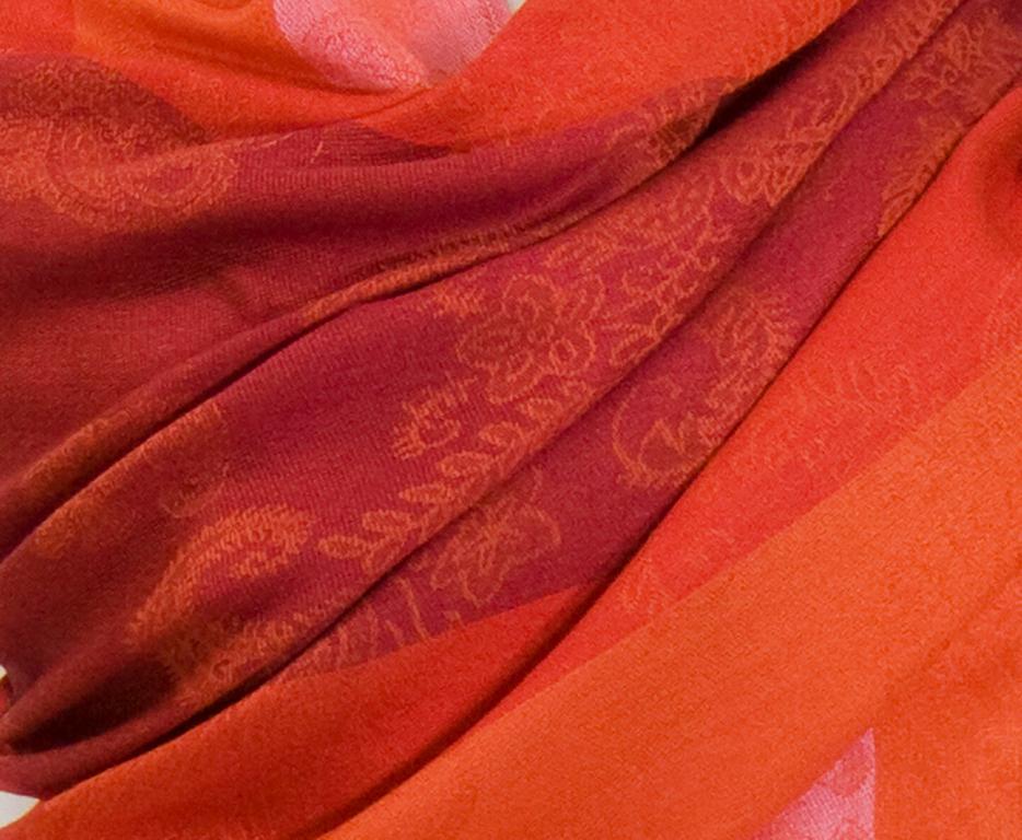 etole pashmina orange rayures 4