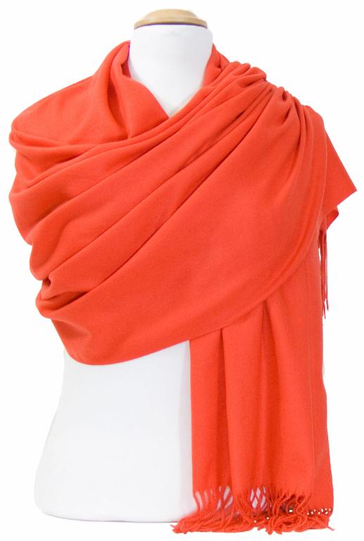 étole orange cachemire laine charlie 6