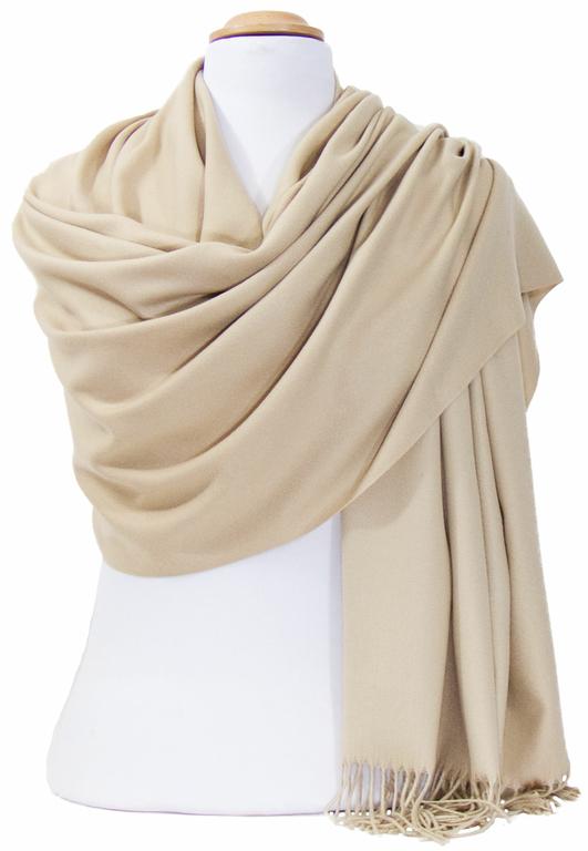 étole beige cachemire laine charlie 5