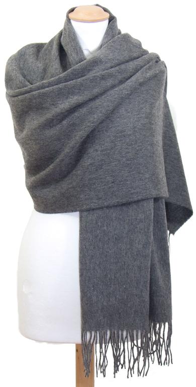 étole laine gris 1