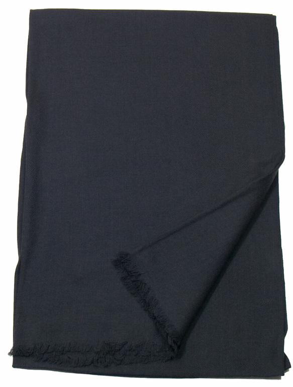 étole gris anthracite laine fine