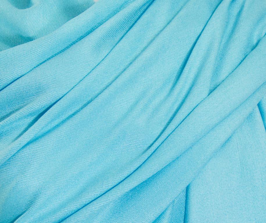 étole bleu turquoise pashmina sacha 3