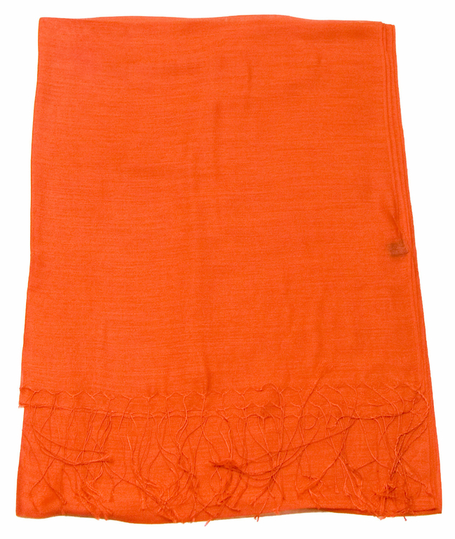 étole foulard orange soie fine Alex 1