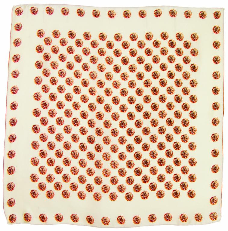 carré de soie écru  Aude 5
