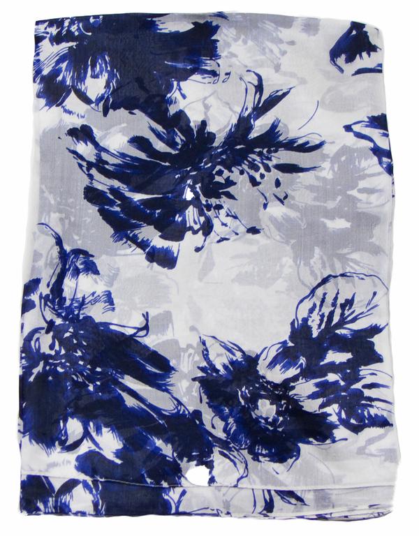 Etole en soie bleu marine Emeline 1