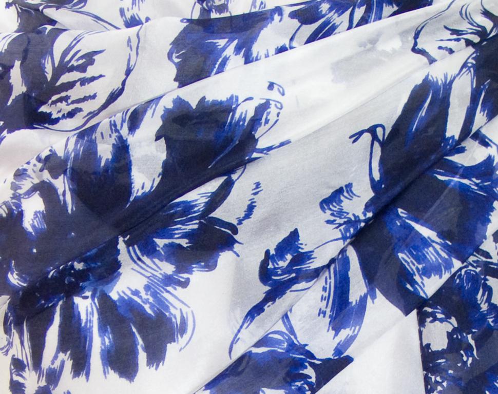 Etole en soie bleu marine Emeline 4