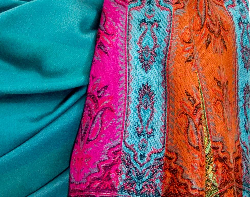 étole vert émeraude pashmina motifs 4