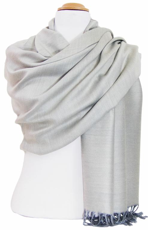 Etole gris grège pashmina réversible 4