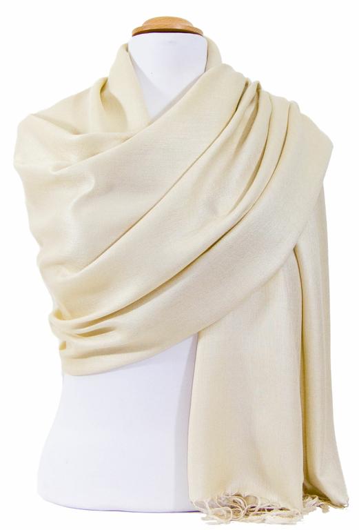 étole beige clair pashmina sacha 1