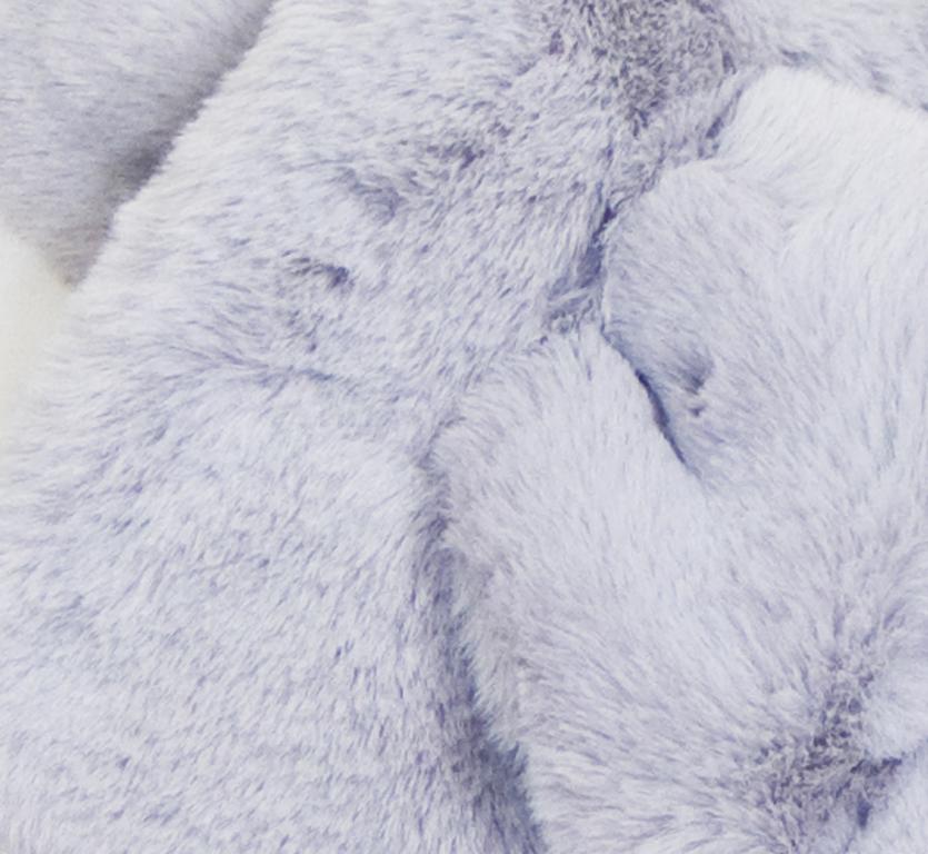 écharpe femme grise fausse fourrure 2