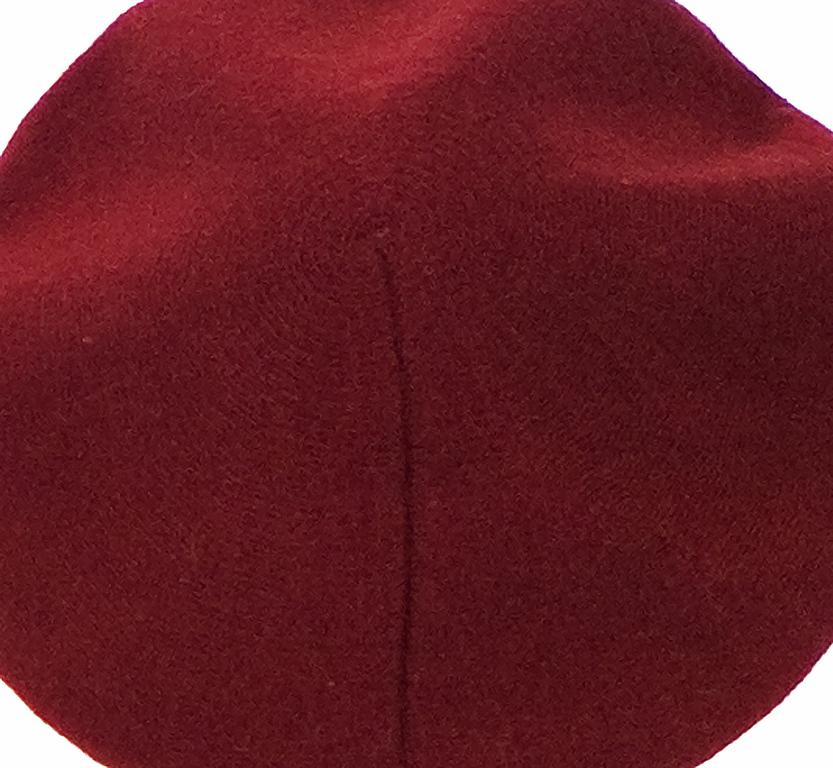 beret rouge bordeaux cachemire 3