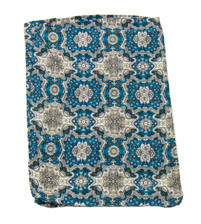 foulard cheche homme bleu turquoise chambord 3