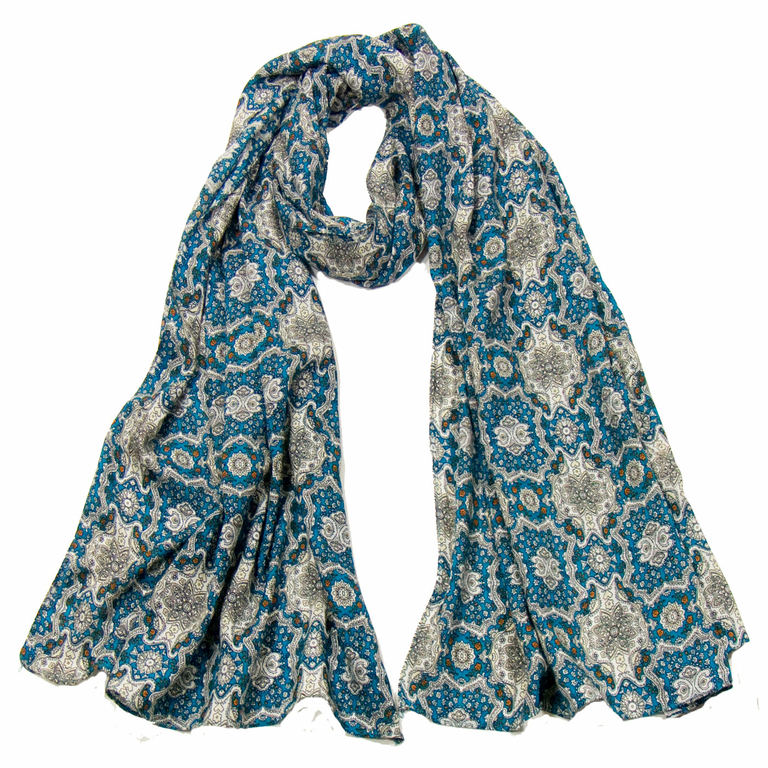 foulard cheche homme bleu turquoise chambord
