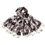 1270-etole-laine-fleurie-noir-et-gris-1 copie
