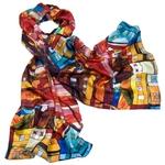 foulard en soie rouge urban 1