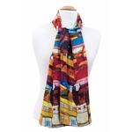 foulard en soie rouge urban 2