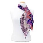 foulard carré de soie violet colorima 2-min