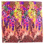 foulard carré de soie corail colorima 1-min