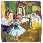 carré de soie la classe de danse Edgard Degas 1-min