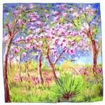 carré de soie printemps à Giverny  Claude Monet 1-min