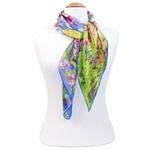carré de soie printemps à Giverny  Claude Monet 3-min