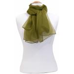 foulard kaki mousseline de soie 1