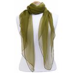 foulard kaki mousseline de soie 2