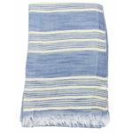 foulard bleu rayures or 4