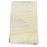 foulard taupe écru rayures or 4