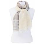 foulard taupe écru or 2
