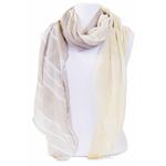 foulard taupe écru or 1