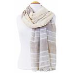 foulard taupe écru or 3