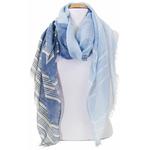 foulard bleu or 1