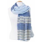 foulard bleu or 3