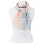 foulard rose gris or 2