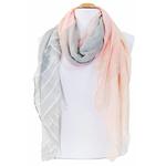 foulard rose gris or 1