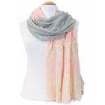 foulard rose gris or 3