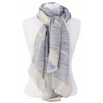 foulard bleu gris lurex 1