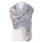foulard bleu gris lurex 2