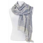 foulard bleu gris lurex 3