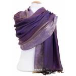 étole pashmina violet rayures 2