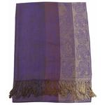 étole pashmina violet rayures 1