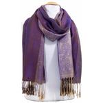 étole pashmina violet rayures 3