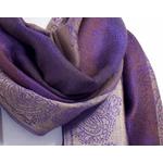 étole pashmina violet rayures 4