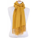 étole jaune cachemire laine charlie 3