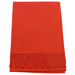 étole orange cachemire laine charlie 1