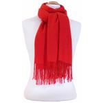 étole rouge cachemire laine charlie 3